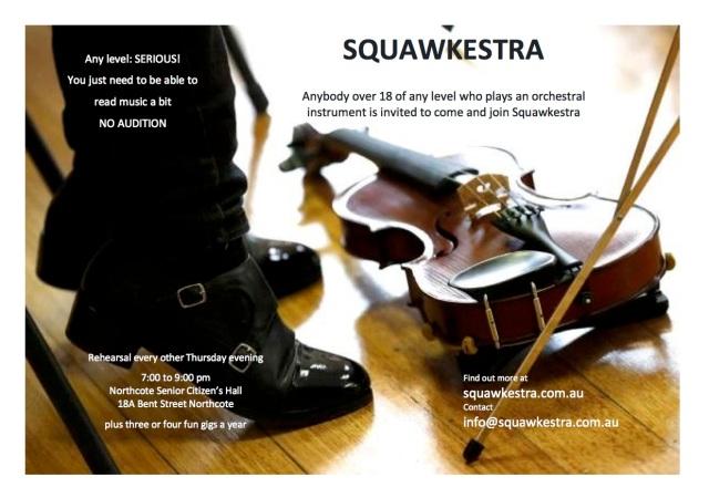 2018 Squawkestra flyer
