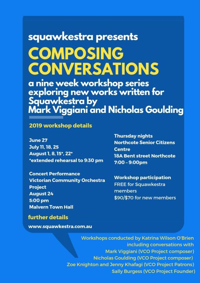 2019 Composing Coversations workshop